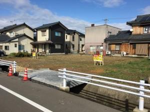 福井県鯖江市杉本町の分譲地